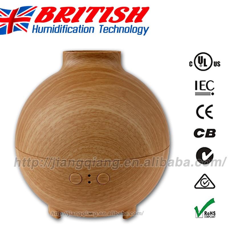 ФОТО Wood Color Ultrasonic Vaporizer Essential Oil Diffuser 600 ml Capacity for Single Large Room. Pod Shaped Wood Grain