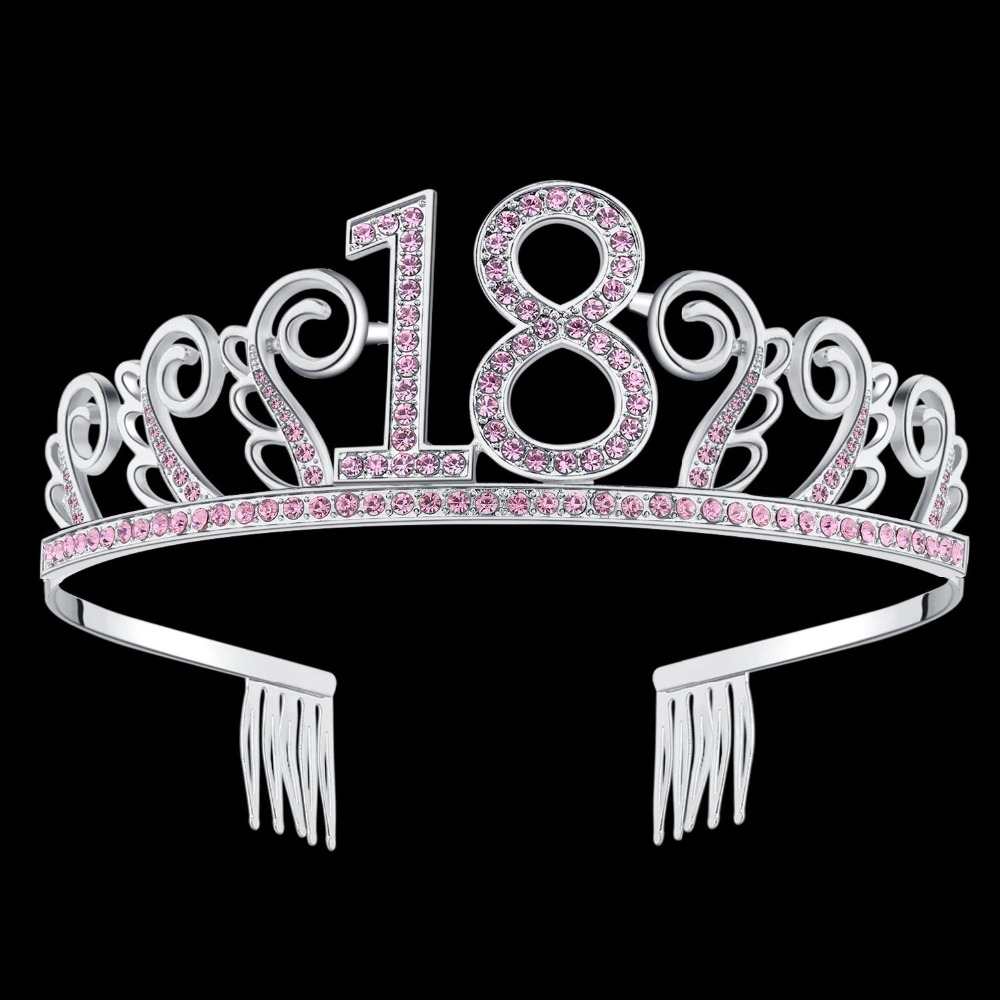 Girls 18th Birthday Princess Tiara Crown Crystal 18 Girl Hat For Years Old Party Decorations Supplies In Hats From Home