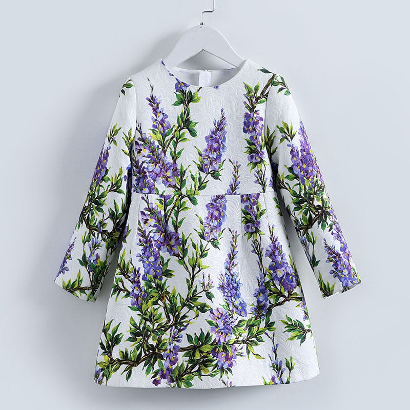 Girls lavender Flower Dress Summer 2017 Brand Handmade Children Princess Costumes Kids Dresses Robe Enfant Girls Clothes цепная пила bosch ake 40 19 s 0600836f03