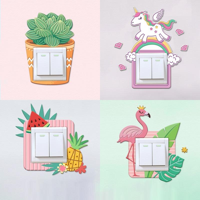 Ins 3D Puffy Bubble 2018 Switch Sticker Succulent Plants ...