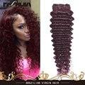 Топ глубокая волна бразильский несравненный девы волос девственницы бразильские волос глубоко вьющиеся переплетения мокрый и волнистые человеческие волосы бордовый переплетения 99j #