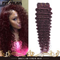 Top Deep Wave Brazilian Peerless Virgin Hair Virgin Brazilian Hair Deep Curly Weave Wet And Wavy Human Hair Burgundy Weave 99j#