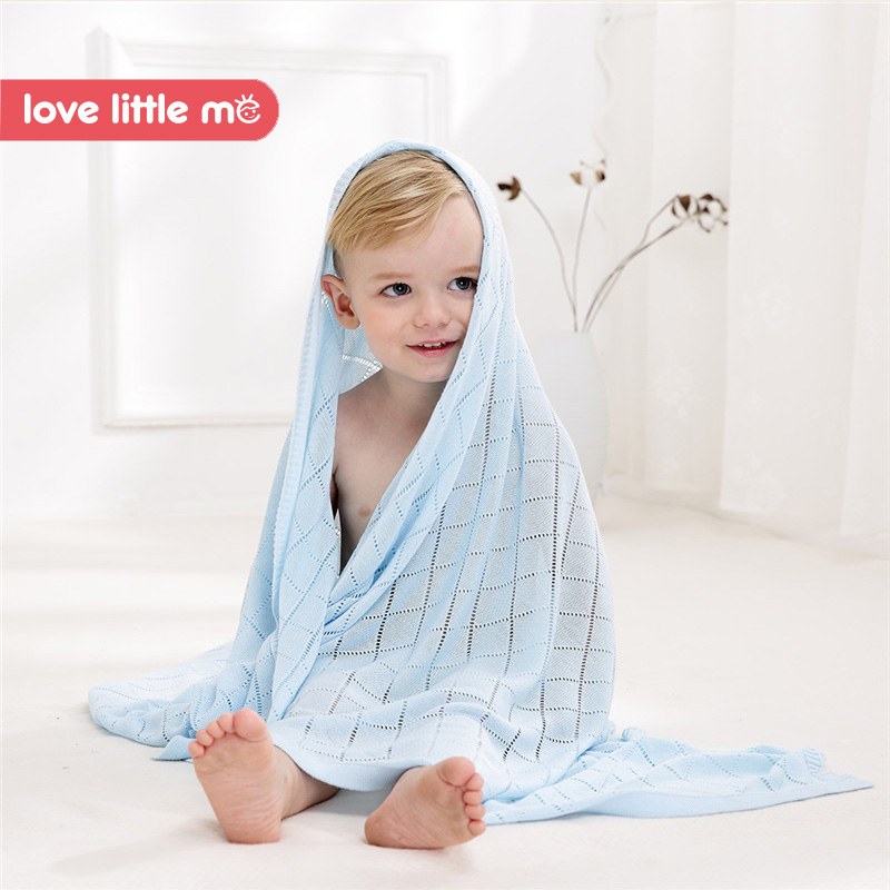 Love Little Me Bamboo Fiber Baby Blanket Infant Soft Swaddles Blankets Bath Gauze Infant Wrap Sleep Sack Stroller Cover Blanket