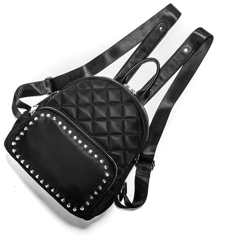 Pour Pu À Sacs Rivet Noir Zipper Filles Y Femmes Mode Preppy Bandoulière Dos Petit Sac Cuir Nouveau 853 Étudiants De wzPqnE1