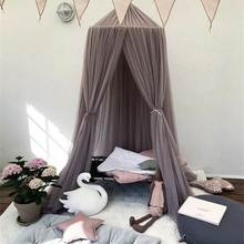 Baby Bed Curtain Hung Dome Princess Mosquito Net Girls crown Hanging Bed Tents for Children Girls Room Decoration(China)