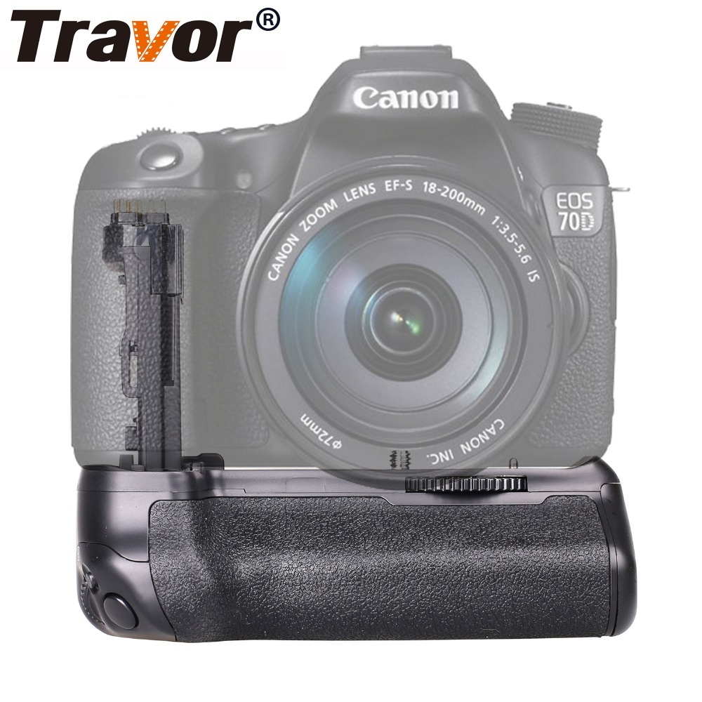 все цены на Travor Camera Vertical Battery Grip Holder For Canon EOS 70D 80D DSLR Battery Handle Replace BG-E14 Work With LP-E6 Battery онлайн