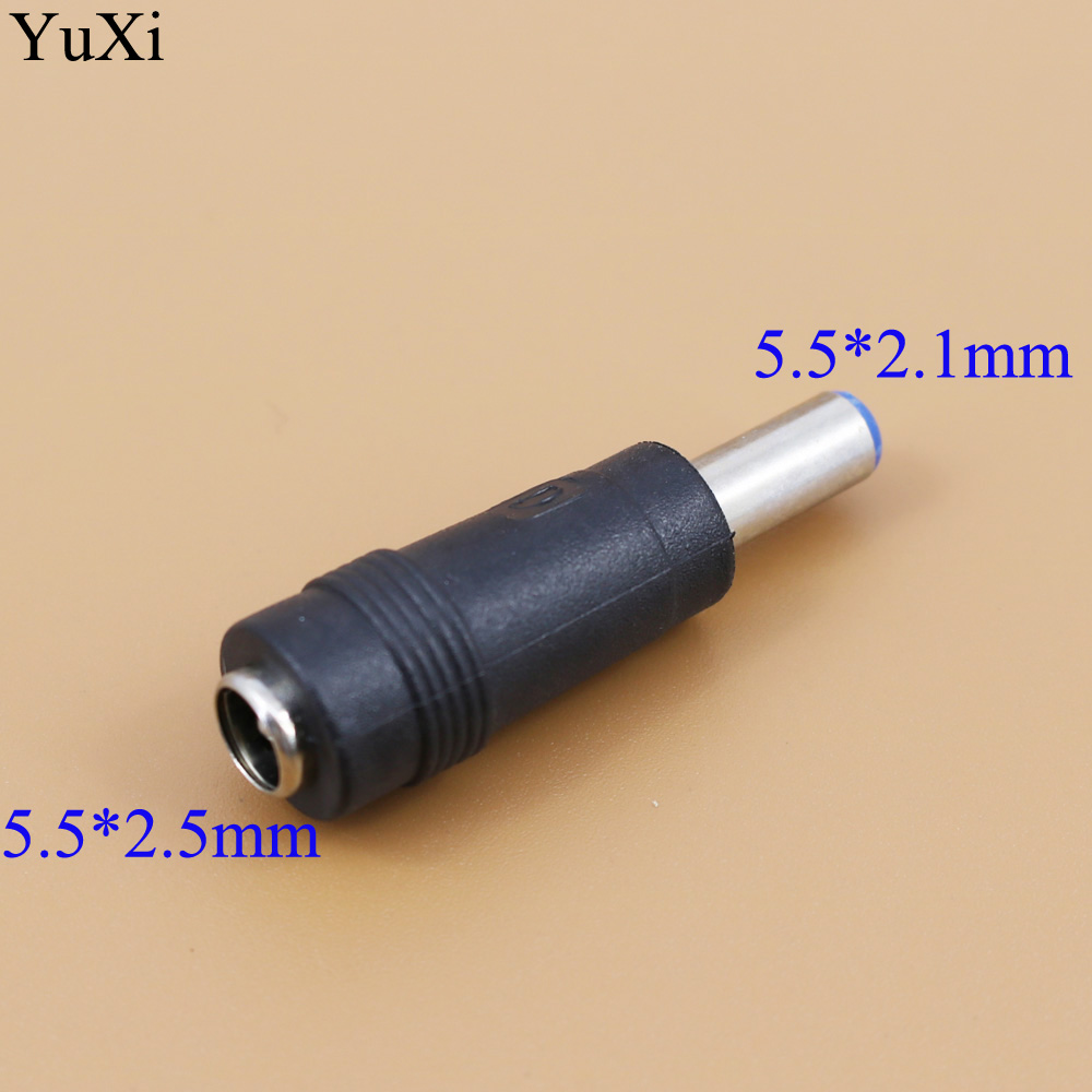 YuXi 1pcs/lot 5.5 2.5 Mm DC Power 5.5 X 2.5mm Female Plug To 5.5 2.1 Mm DC 5.5 X 2.1mm Male Jack Adapter Connector