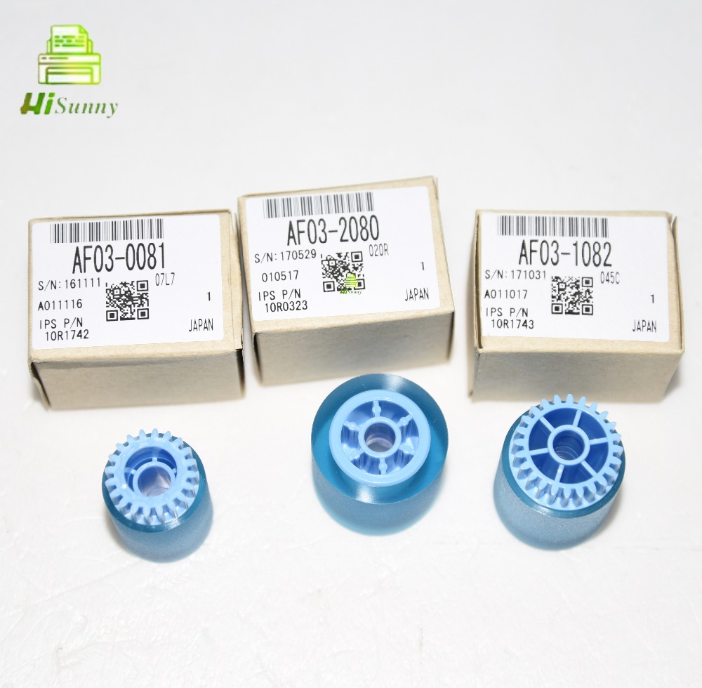 10sets OEM AF032080 AF030081 AF031082 for Ricoh Aficio 1075 2075 8000 7500 6001 9001 Pickup Roller