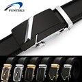 Funteks correa de los hombres 2017 diseñador de cinturones de cuero genuino para los hombres de la marca hombres de la correa de la hebilla automática negocios masculino ceinture homme