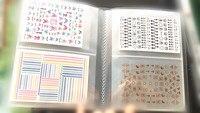 Mới nhất designs nail art sticker album-20 trang có thể đặt 80 cái nhãn decal Kết Hợp nail art nhà cung cấp phụ kiện móng tay