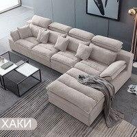Европа мебель для гостиной, L Большой размер твердой древесины эмульсия сочетание современной диван