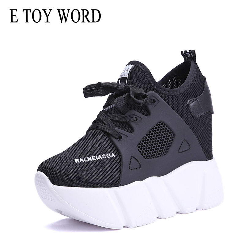 E TOY WORD platform Sneakers Womens Casual Shoes Fashion Height Increasing Zapatillas Mujer breathable mesh women sneakers 2019