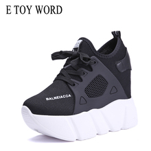 E TOY WORD platform Sneakers Casual Shoes Woman Fashion Heig