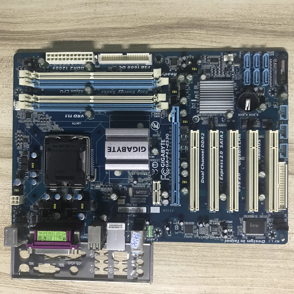 LGA775 For Intel DDR2 Gigabyte GA-P43-ES3G 100% Original Motherboard USB2.0 16G P43 P43-ES3G Desktop Mainboard Systemboard Used стоимость