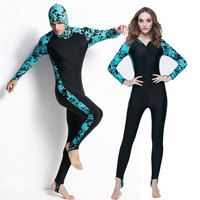 Dive Skin w 2017 Valentine's Day Gifts Nylon Swimwear for Scuba Full Body Stinger Suit / , Snorkeling Lovers Suits Hood Lycra W