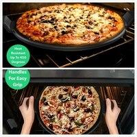 Круглый Керамика антипригарной пицца хлеб камень для гриля и духовой коврик для выпечки разделочная доска говяжий стейк тарелка для кондит...