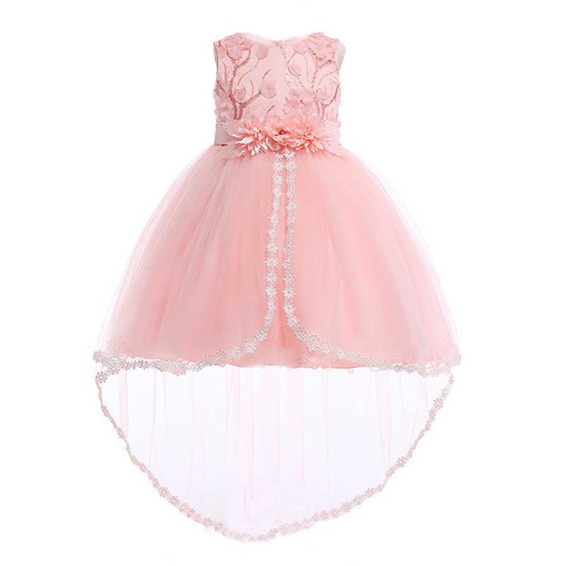 25b0362bda06 2018 vestidos largos de fiesta de boda de dama de honor de verano para  niñas vestido