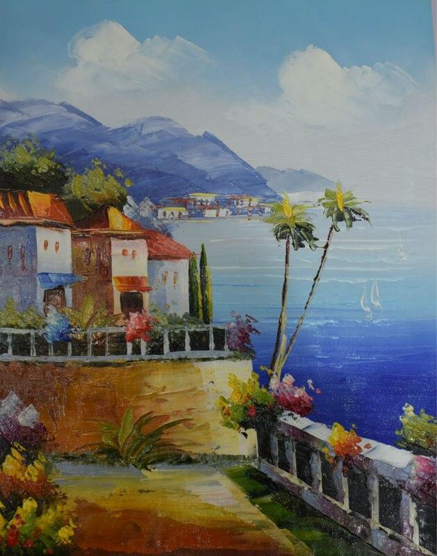 dipinto a mano pittura a olio astratta su tela di canapa mar seascape pittura a
