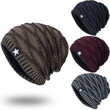 Unisex Winter Hat Knit  Hedging Head Cap Warm Fur Skullies Beanie Bonnet Hat Fleece   Wool Hat Knitting gorros hombre invierno striped rib knitting warm beanie hat