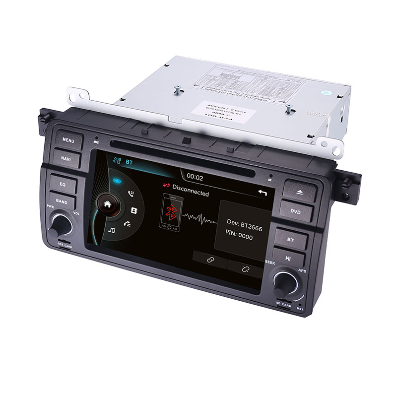 Image 5 - Factory Price 1 Din Car DVD Player for BMW E46 M3 With GPS Bluetooth Radio RDS USB Steering wheel Canbus Free Map+Camera MIC-in Car Multimedia Player from Automobiles & Motorcycles