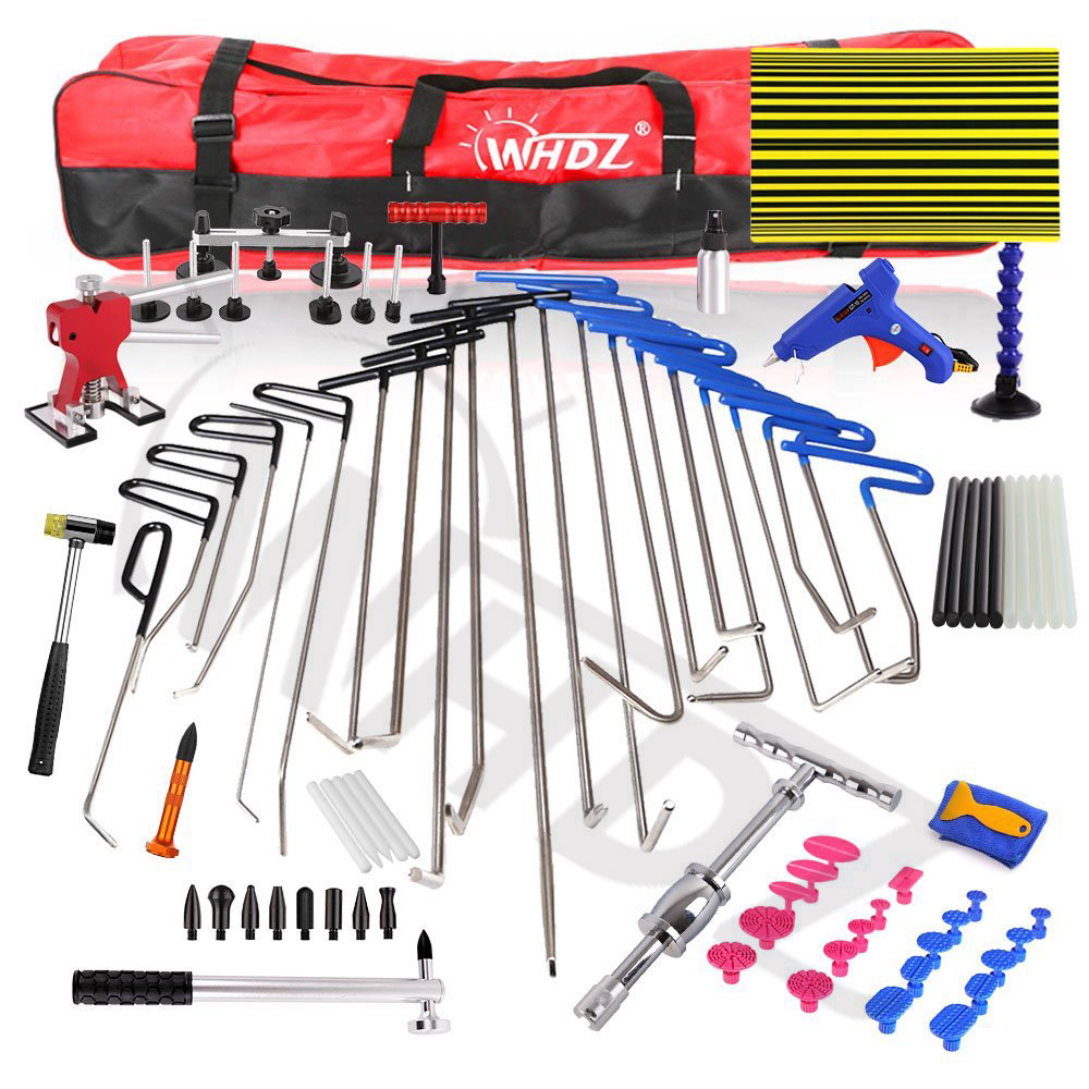 все цены на WHDZ 85pcs PDR Tool Dent Lifter PDR Rods Kit Car Dent Remover Kit Glue PDR Pro Tabs Tap Down Line Board PDR Tool Kit