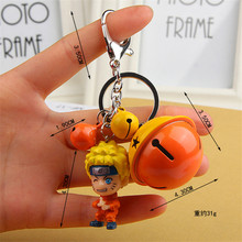 Anime naruto Shippuden Uzumaki Naruto Figures Toys Keychain Pendant star naruto keyring Cartoon Collection toys for gift