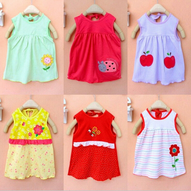 854b09f79 Free Shipping Summer Clothes Printed Embroidery Girl Kids Dress Baby ...