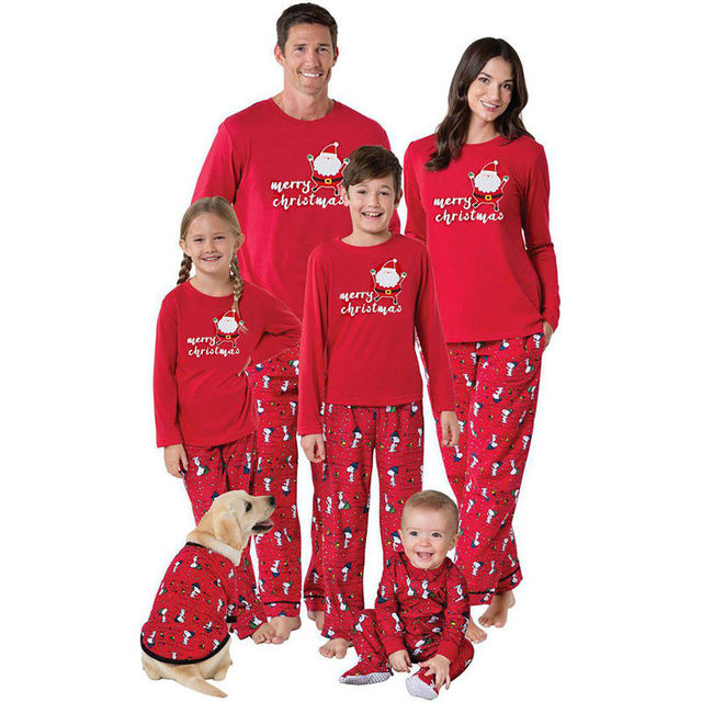 d1d639735d 2018 Family Matching Christmas Pajamas PJs Sets Kids Adult Xmas Sleepwear  Nightwear Clothing family casual Santa