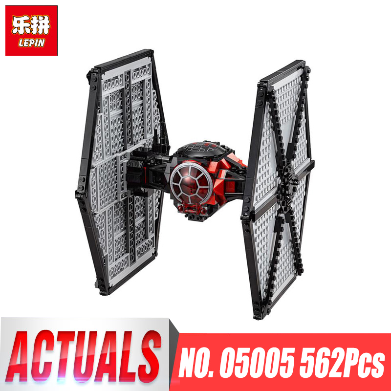 Lepin 05005 562pcs Star Series Wars First Order Fighter Building Block Bricks Compatible legoing 75101 Educational Children Toys hot sale building blocks assembled star first wars order poe s x toys wing fighter compatible lepins educational toys diy gift