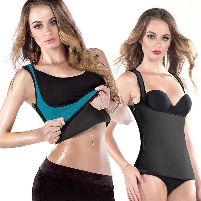 Zipper quente trainer cintura para mulheres ultra suor neoprene emagrecimento espartilho colete cintura cincher body shaper 2016 novo colete reversível