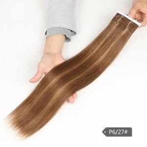 Image 3 - Sleek Pre Farbige P4/27 P4/30 P1B/30 P6/2 Menschliches Haar Bundles Brasilianische gerade Haar 1 Bundle Remy Haar Verlängerung 113g