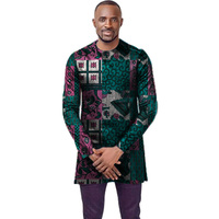 O neck african t shirt men fashion african print dashiki tops custom long sleeve african clothes tailored africa clothing