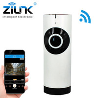 ZILNK Câmera IP Panorâmica de 180 Graus Fisheye Lens HD 720 P Wi-Fi Áudio Bidirecional Baby Monitor Interior Home Security CCTV IP Cam