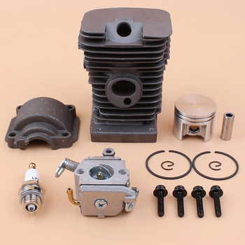 цена на Engine Cylinder Head Piston Pan Carburetor Set Fit STIHL 018 MS180 MS 180 Gasoline Chain Saws Replace 11300201208 11301200603