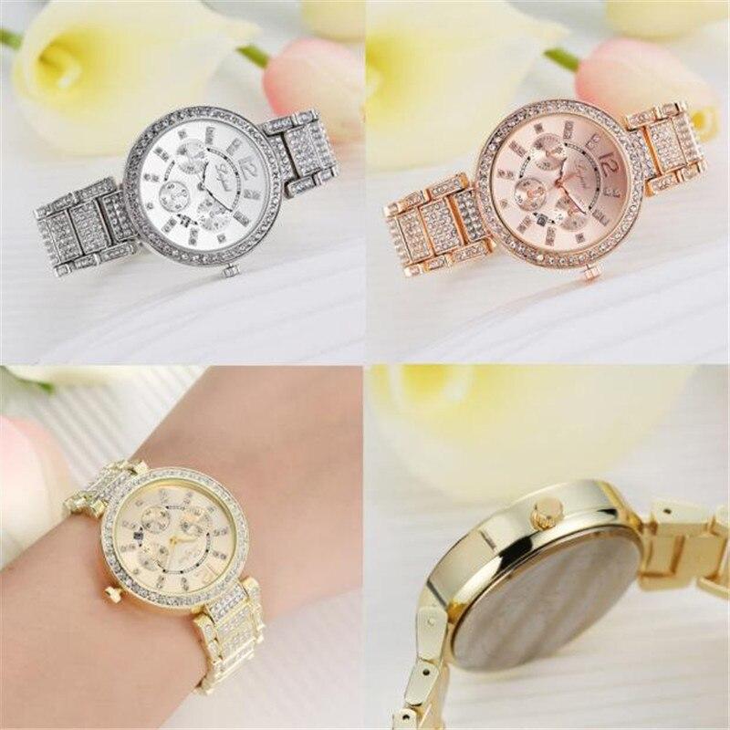 Watches Women Luxury Diamond Stainless Steel Bracelet