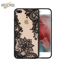 KISSCASE Phone Case For iPhone 7 8 6 6S Plus iPhone 5S SE 5 Case Cover Luxury Girly Lace Flowers TPU Cover For iPhone 7 8 6 Case