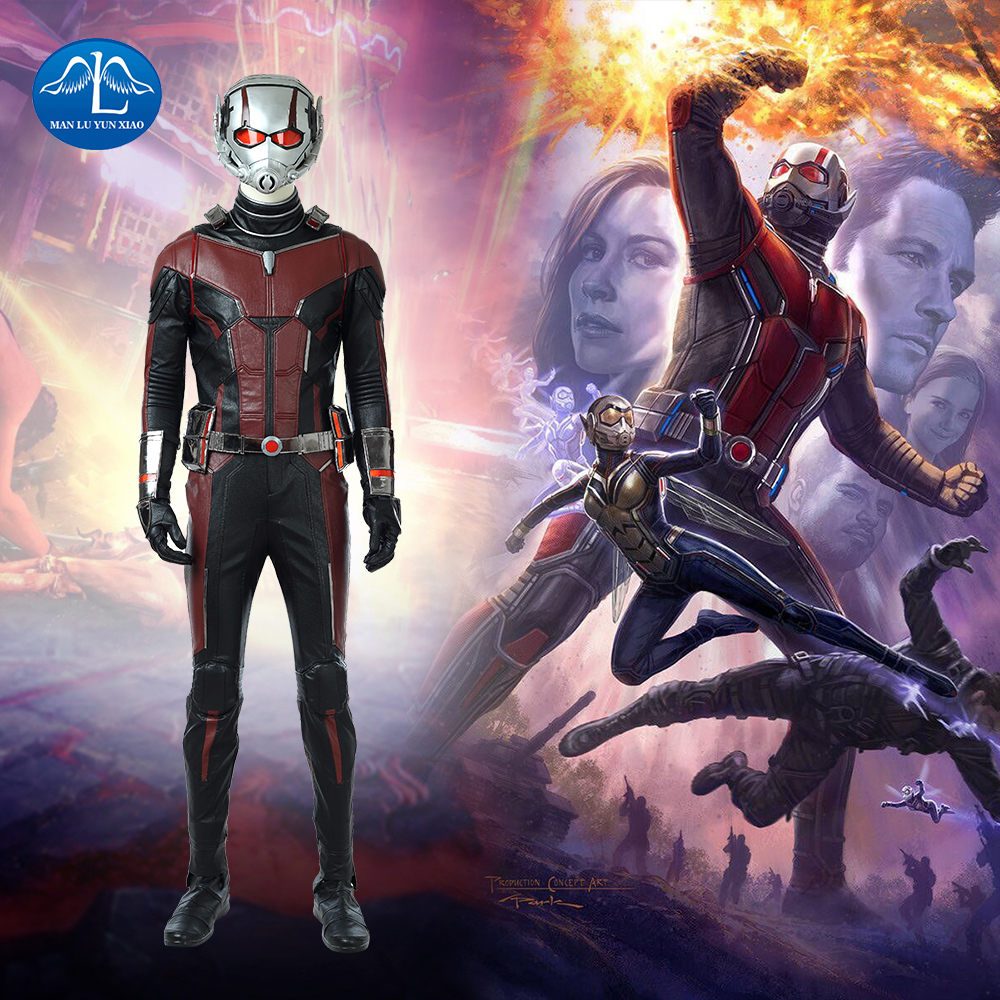 New Movie Ant-Man and the Wasp Cosplay Costume Men Ant Man Costume Halloween Costumes For Men Cosplay Costume Custom Made