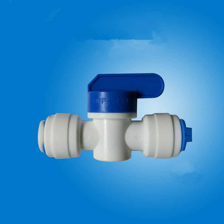 """5Pcs 1//4/"""" Ball Valve Inline Tap Quick Connect Push Fit RO Water Reverse Osmosis"""