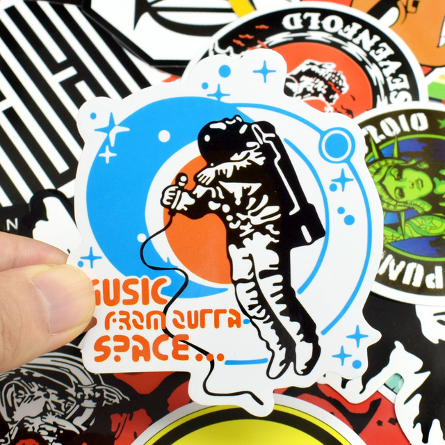 Rock and Roll Stickers Decal 100 PCS