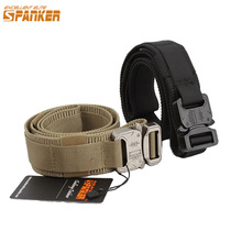 EXCELLENT ELITE SPANKER Outdoor Hunting Molle Men Waist Belt Tactical CS Equipment Universal Belts Metal Buckle 1.5 Inch Width жилет армейский no molle cs