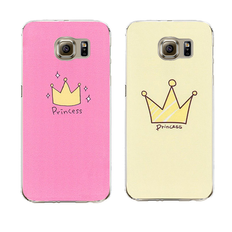 cute design crown transparent silicone cover coque for samsung galaxy s3 s4 s5 s6 s7 edge j3 j5. Black Bedroom Furniture Sets. Home Design Ideas
