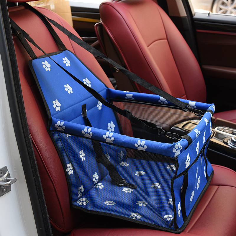 Folding Dog Seat Cover With Adjustable Buckle Design Suitable for All Cars 2