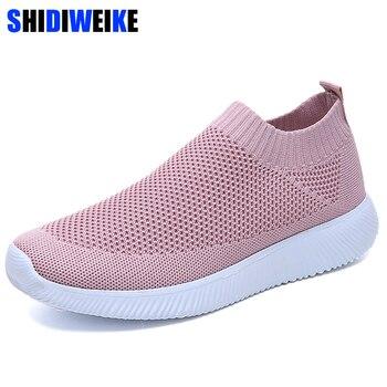 bd905731 Zapatillas de deporte blancas de malla transpirables de verano de 2019 para  mujer, zapatos planos negros, zapatillas de deporte, zapatos de mujer,  chussure, ...