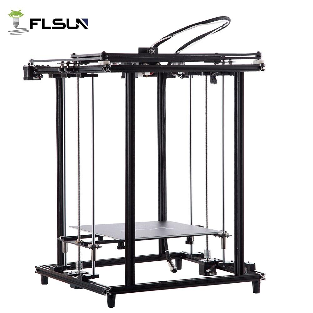 Flsun 2018 Nouveau 3D Imprimante Full Metal Structure grande taille 320*320*460mm 3D Printe Chauffée Lit Pré -l'assemblée