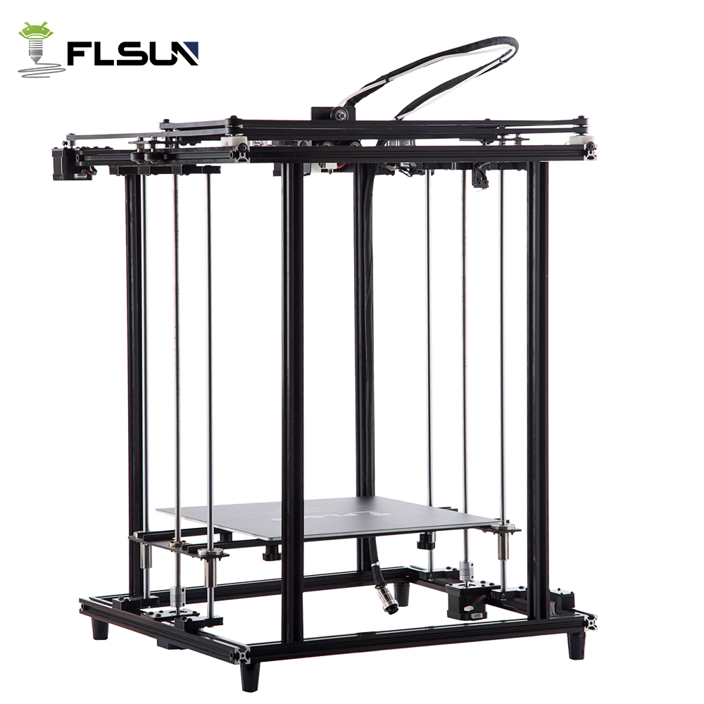 Flsun 2018 New 3D Printer Full Metal Structure Large Size 320*320*460mm 3D Printe Heated Bed Pre assembly