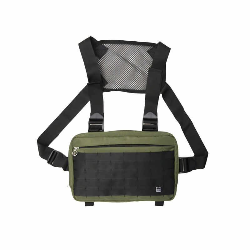 Sacos de cintura de cintura de viagem tático militar sacos de cintura para homens saco de peito equipamento de peito hip hop streetwear colete para homens