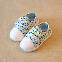 Girls Princess Shoes 2017 New Spring Autumn Fashion Flowers Sneakers Children Shoes For Baby Kids Canvas
