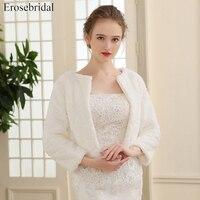 2018 New Arrival Faux Fur Jacket Wrap Shrug Bolero Coat Wraps Shawl Cape Bridal Wedding Shawl