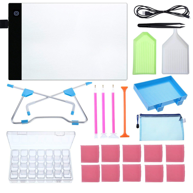 LED Light Pad Board Stand Holder Diamond Embroidery Painting Tools