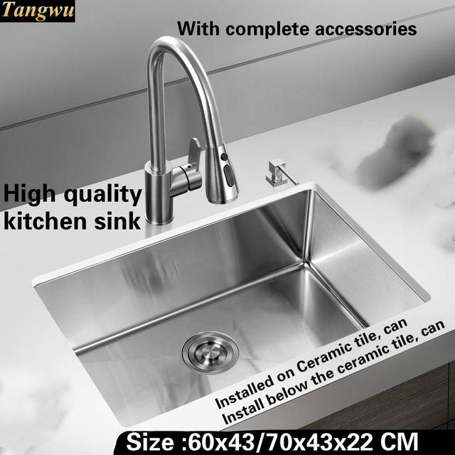 High End Kitchen Sinks Metal Stools Tangwu Stylish And Sink 1 2mm Thick Food Grade 304 Stainless Steel
